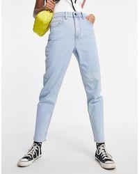 Object Vinnie High Waist Mom Jeans - Blue