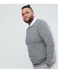 ASOS DESIGN - Asos Plus Cotton Sweater In Black And White Twist - Lyst