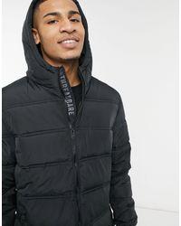 Threadbare Beechwood Padded Jacket - Black