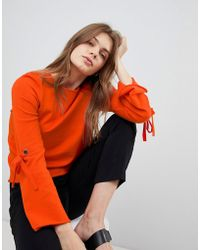 Esprit - Flared Sleeve Knitted Jumper - Lyst