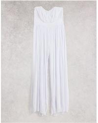 TFNC London wide-legged Jumpsuit - White