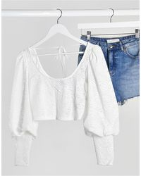 TOPSHOP Lace Top - White