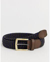 ASOS Slim Woven Belt - Blue
