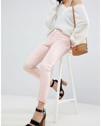 Warehouse - Light Pink Skinny Jeans - Lyst
