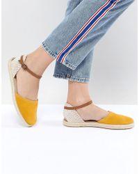 Hudson Jeans - London Borneo Mustard Suede Espadrilles - Lyst