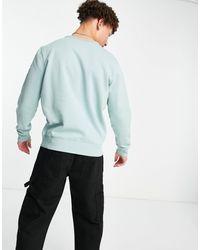 Hollister 90's Sport Tape Sleeve And Chest Logo Sweatshirt - Green