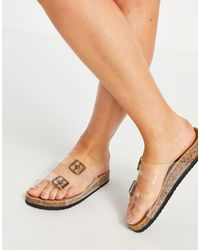 Truffle Collection - Clear Strap Sliders - Lyst