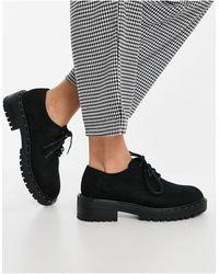 Schuh - Черные Ботинки На Шнуровке Из Искусственной Замши Leona-черный Цвет - Lyst