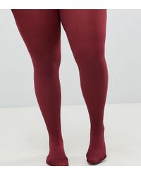 ASOS 80 Denier Burgundy Tights - Red