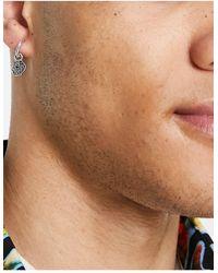 Icon Brand Disc Hoop And Stud Earrings - Metallic