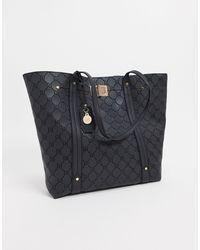 River Island Embossed Detail Shopper Bag - Black