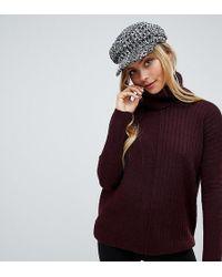 Miss Selfridge Roll Neck Sweater In Burgundy - Red