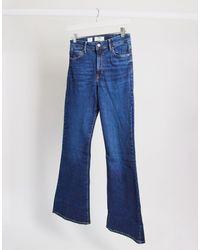Bershka Jeans a zampa blu scuro