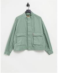 Levi's Куртка Цвета Хаки В Утилитарном Стиле -зеленый Цвет