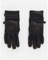 The North Face Etip Leather Gloves - Black