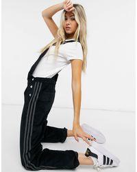 adidas Originals 'comfy Cords' Corduroy Dungarees - Black