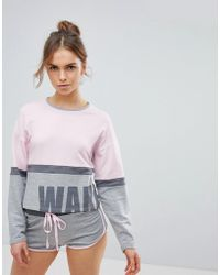 Boux Avenue - Wake Up Boxy Sweat And Short Pyjama Set - Lyst