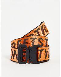 Sixth June Cintura con logo arancione