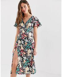 Brave Soul - Midi-jurk Met Dijsplit - Lyst