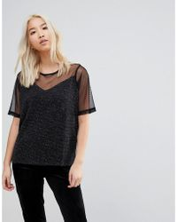 B.Young - Sheer Panel Blouse - Lyst