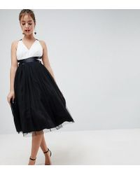 ASOS | Premium Tulle Midi Prom Dress With Ribbon Ties | Lyst