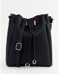 ASOS Bonded Bucket Bag - Black