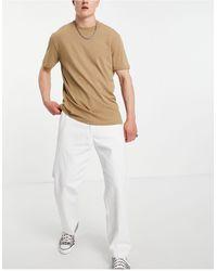 Obey Pantalones s estilo carpintero hardwork - Blanco
