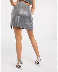 Flounce London Sequin Mini Skirt - Multicolour