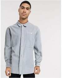 Reclaimed (vintage) Серая Вельветовая Рубашка Inspired-серый