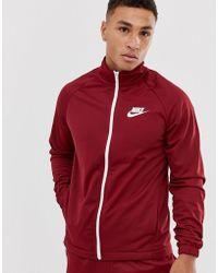 Nike Logo Burgundy Tracksuit - Red