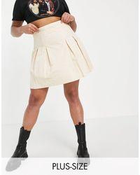 Missguided - Minifalda color piedra plisada - Lyst