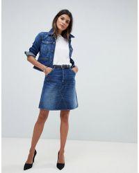 G-Star RAW Denim Mini Skirt - Blue