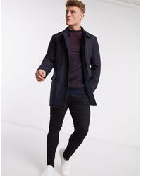 French Connection Double Breasted Peacoat - Blue