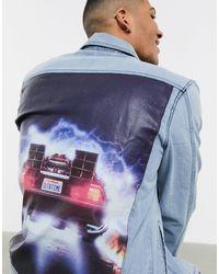 Criminal Damage Бледно-синяя Джинсовая Куртка -синий