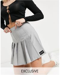 Reclaimed (vintage) Falda estilo tenista - Negro