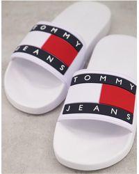 Tommy Hilfiger Белые Шлепанцы С Логотипом-флагом -белый