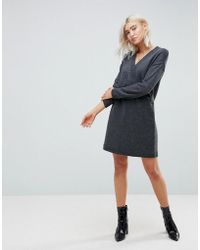 ASOS - Asos Chunky Knitted Dress With Wrap Detail - Lyst