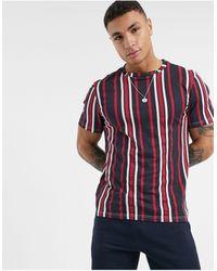 Another Influence Vertical Stripe T-shirt - Blue