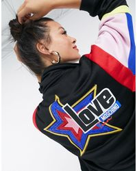 Love Moschino Colourblock Logo Jacket - Black