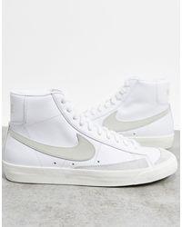 Nike Белые Кроссовки С Бежевой Отделкой Blazer '77-белый