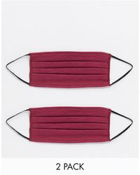 ASOS 2 Pack Face Covering - Red