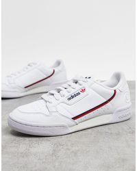 adidas Белые Кроссовки Vegan Continental 80-белый