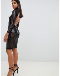AX Paris Sequin Bodycon Dress - Black