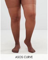 ASOS Asos Design - Curve - 15 Denier Panty - Bruin