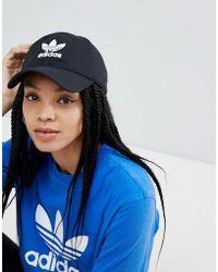 adidas Originals - Originals Logo Cap In Black - Lyst