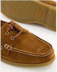 Polo Ralph Lauren Светло-коричневые Замшевые Мокасины Без Застежки На Шнуровке Merton-коричневый Цвет
