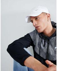 Nike Casquette avec logo virgule métallique - 943092-100 - Blanc
