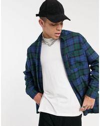 ASOS Camicia super oversize a quadri scozzesi - Verde