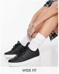 Truffle Collection – sneaker mit dicker plateausohle und weiter passform - Schwarz