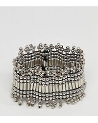 ASOS - Asos Design Curve Exclusive Burnished Bead Stretch Bracelet - Lyst